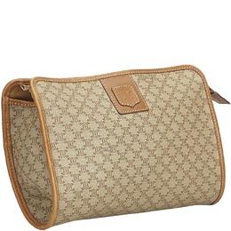 Celine Brown Macadam Clutch Bag 194943