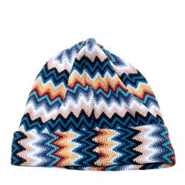 Missoni Multicolor Wool Blend Zig Zag Knit Beanie 209000
