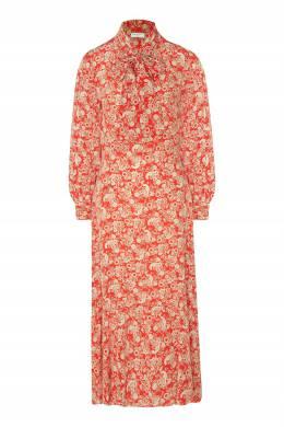 Красное платье с принтом пейсли Sandro 914140134