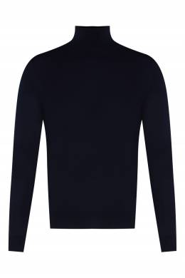 Темно-синий шерстяной свитер Sandro 914140123