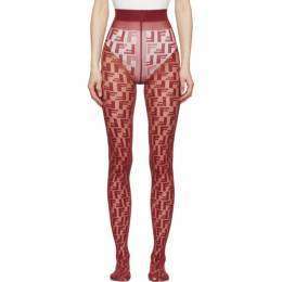 Fendi Burgundy Forever Fendi Tights FXZ528 A39D