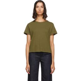 Re/Done Green Originals Classic T-Shirt 192800F11000501GB