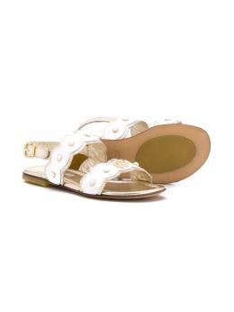 Roberto Cavalli Junior - сандалии с ремешком на щиколотку 05V9K935580900000000