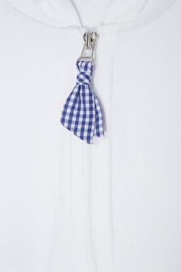 Белое хлопковое худи Monnalisa 2551133511