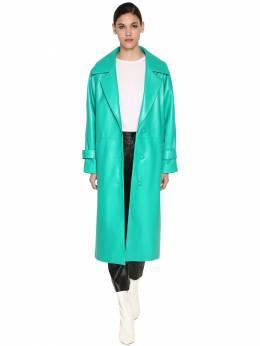 Длинное Кожаное Пальто Drome 70I1KJ001-NTE0Mg2