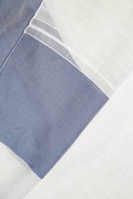 Белый шарф с контрастной отделкой Eleventy 2014141121