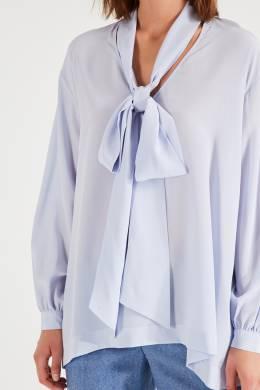 Шелковая блузка с воротником-аскот Eleventy 2014141118