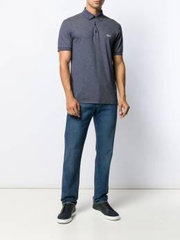 Ermenegildo Zegna рубашка-поло с вышитым логотипом UT586750R