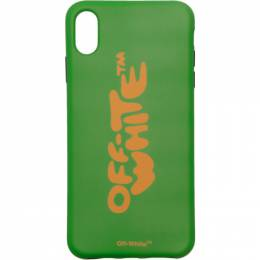 Off-White Green Bubble Font iPhone XS Max Case 192607F03200601GB