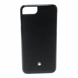 Montblanc Black Leather and Plastic Hardphone iPhone 8 Case 206441
