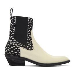 Haider Ackermann Off-White Perito Baltoro Spotted Chelsea Boots 192542M22300103GB