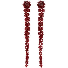 Simone Rocha Red Drip Earrings 192405F02201001GB
