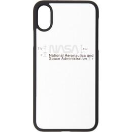 Heron Preston Silver Logo iPhone XS Case 192967F03200201GB