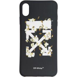 Off-White Black Cotton Arrows iPhone XS Case 192607F03200801GB
