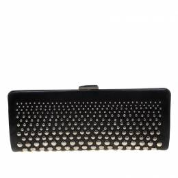 Bally Black Leather Studded Clutch 209844