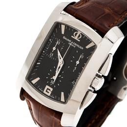 Baume& Mercier Black Stainless Steel 65448 Chronograph Men's Wristwatch 30 mm Baume&Mercier 210343