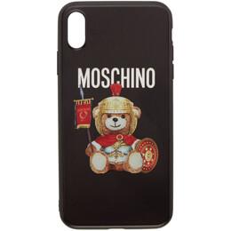 Moschino Black Roman Teddy Bear iPhone XS Max Cover 192720M15300501GB