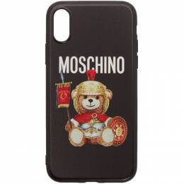 Moschino Black Roman Teddy Bear iPhone XS Case 192720M15300401GB