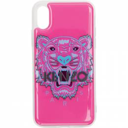 Kenzo Pink and Blue 3D Tiger Head iPhone X/Xs Case 192387F03200401GB