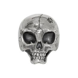 Yohji Yamamoto Silver Alien Skull Ring 192573M14700202GB