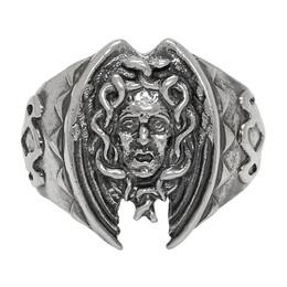 Yohji Yamamoto Silver Medusa Ring 192573M14700302GB
