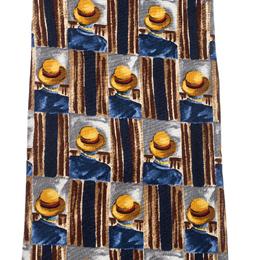 Dunhill Multicolor Hat Print Silk Traditional Tie