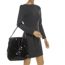 Cartier Black Patent Leather Marcello de Cartier Bag