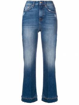 7 For All Mankind - beaded hem cropped jeans BK33CCN9303969900000