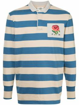 Kent & Curwen - rose patch striped polo shirt I3ER6969083983000000
