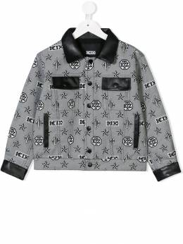 KTZ - monogram print denim jacket KIDSJK63AW9365638600