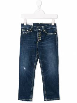 Dondup Kids - distressed regular fit jeans A566DS953BSDUNI09309