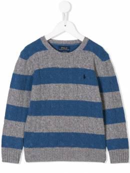 Ralph Lauren Kids - striped knit jumper 36359693063869000000