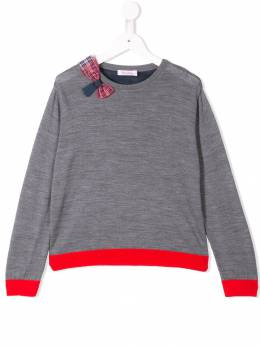 Familiar - bow colour-block sweater 05693969385000000000
