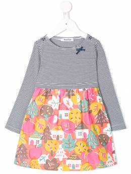 Familiar - house print dress 09693933533000000000