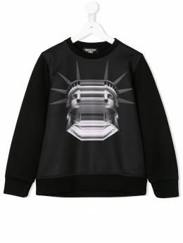 Neil Barrett Kids - graphic print neoprene sweatshirt 93093955938000000000