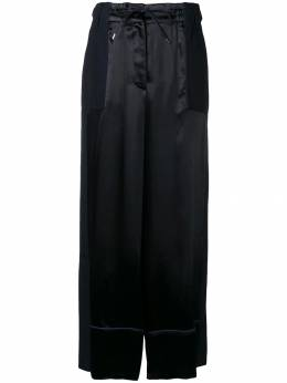 Sacai - contrast panel palazzo trousers 59059300059600000000