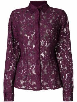 Talbot Runhof - floral mesh shirt AU9CT369395309600000