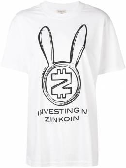 Natasha Zinko - футболка 'Zincoin' в стиле оверсайз 85966693953653000000