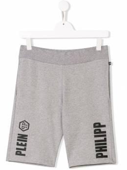 Philipp Plein Junior - повседневные шорты с принтом логотипа CBJT6986PJO660N93550