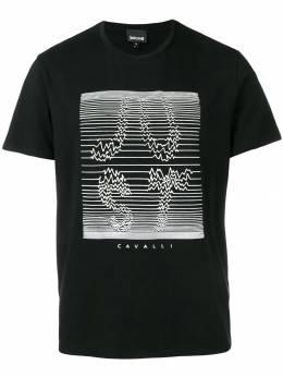 Just Cavalli - футболка с нашивкой-логотипом GC6505N0666393535688