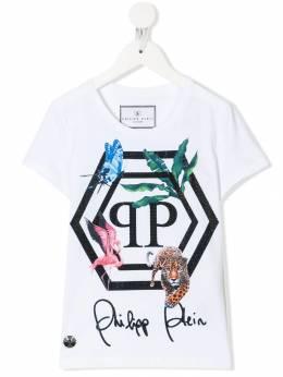 Philipp Plein Junior - футболка с нашивкой-логотипом CGTK6306PJY660N93553