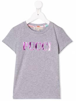 Emilio Pucci Junior - футболка с принтом логотипа 699KA356936633830000