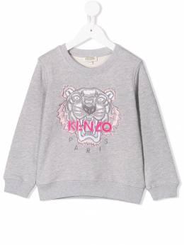 Kenzo Kids - толстовка с вышитым тигром 59989359859800000000
