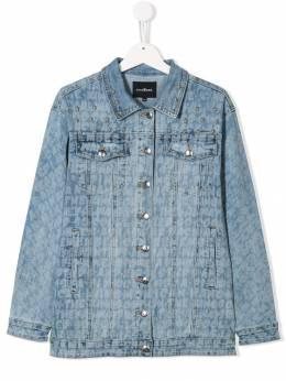 John Richmond Junior - джинсовая куртка с принтом логотипа 99685GBFE93655398000