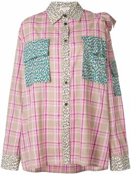 Natasha Zinko - клетчатая рубашка с оборками 06893655536000000000
