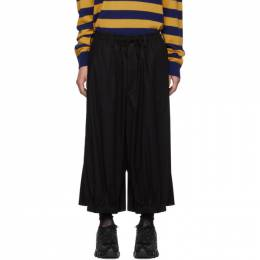 Yohji Yamamoto Black Embroidered Trousers 192573M19101601GB