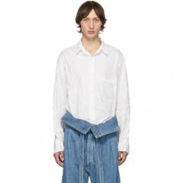 Yohji Yamamoto White Wrinkled Shirt 192573M19201901GB