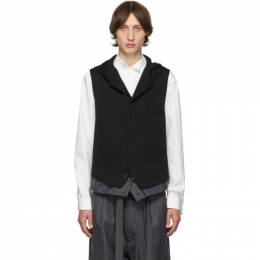 Yohji Yamamoto Black Hooded Vest 192573M18500102GB