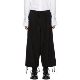 Yohji Yamamoto Black Wide-Leg Jeans 192573M18600101GB