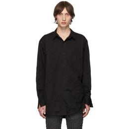 Yohji Yamamoto Black Wrinkled Shirt 192573M19202002GB